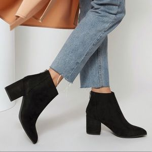 Pretty Little Thing Black Faux Suede Ankle Boots